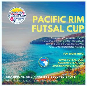 PACIFIC RIM FUTSAL CUP 2021