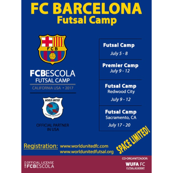 Vava Marques, U.S. Futsal Technical Director will be offering the following Futsal camps in July